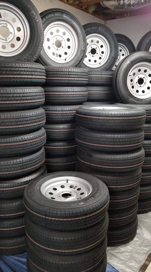 "13"" up to 16"" camper/trailer tire & rim combo for Sale in Douglasville, GA"