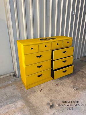 Black & Yellow Dresser for Sale in Victoria, TX