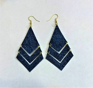 Broken Arrow Denim Dangle Earring for Sale in Peoria, IL