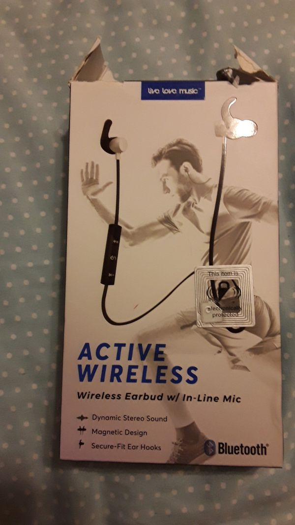 Active Wireless Earbuds with in line mic