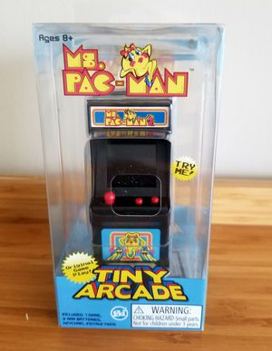 Namco Tiny Arcade Ms. Pac Man/World's Smallest Game Play/New for Sale in Germantown, MD