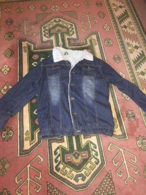 Denim fur jacket for Sale in Alexandria, VA