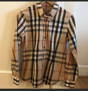 Authentic Burberry Cotton Shirt .. No Stains for Sale in Pittsburg, CA