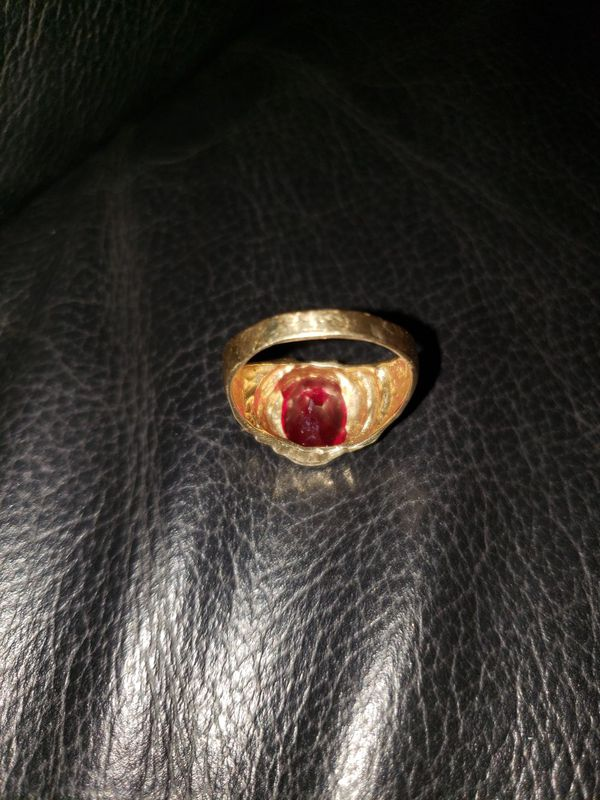 3ct ruby ring 14k band