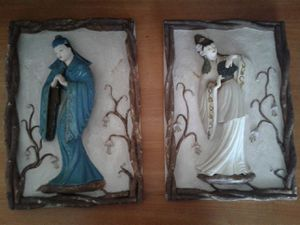 TWO VINTAGE GEISHA PLAQUES for Sale in Manteca, CA