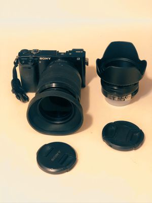 Sony a 6000 with 2 lens and 3 battery for Sale in Revere, MA
