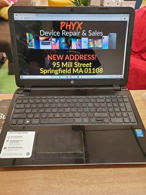 """15"""" HP Laptop 15-r029wm, 120GB SSD, 4GB RAM, 2.16 Intel N3540, WIN 10 + Office $240 for Sale in Springfield, MA"""