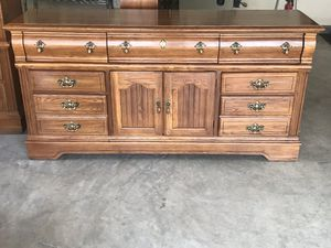 Chest of drawers with mirror hutch for Sale in Sykesville, MD