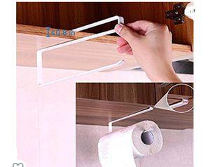 Paper Towel Holder Dispenser Under Cabinet Paper Roll Holder Rack Without Drilling for Kitchen Bathroom for Sale in Huntington Park, CA