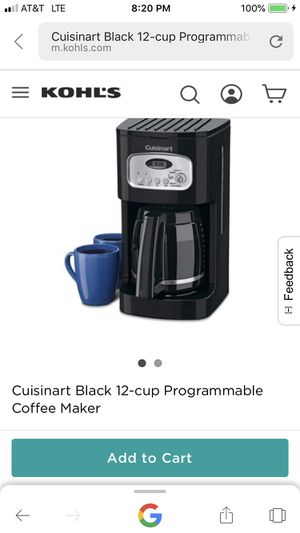 Cuisineart 12 cup coffee maker for Sale in Chicago, IL