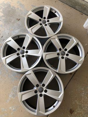 18' inch machined silver OEM AUDI wheels rims for Sale in Murrieta, CA