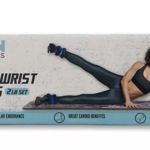 Jillian Michaels Ankle + Wrist weights 2 Lb Set Blue Cardio App 1 Lb Each New for Sale in Rockwall, TX