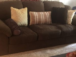 Chocolate Brown Microfiber Couch for Sale in Lighthouse Point, FL