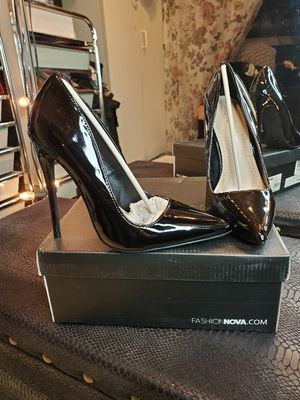Fashion Nova Black Patent Leather Stiletto for Sale in West Covina, CA