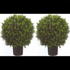 "2 ARTIFICIAL 24"" OUTDOOR UV BOXWOOD TOPIARY TREE BUSH BALL 4 3 5 POOL PATIO DECK for Sale in Los Angeles, CA"