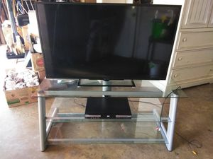 TV w/DVD player and stand for Sale in Santa Maria, CA