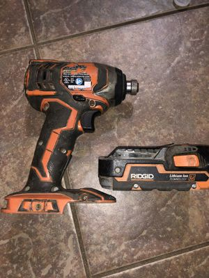 ridgid impact driver with battery for Sale in Laredo, TX