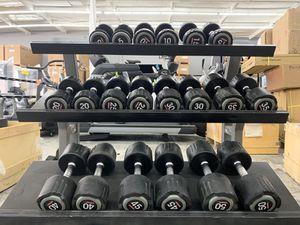 2 Escape Fitness Dumbbells complete 5-50lbs pair set for Sale in Santa Ana, CA