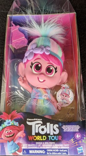 Trolls World Tour Giggle and Sing Poppy Doll for Sale in Belleair, FL