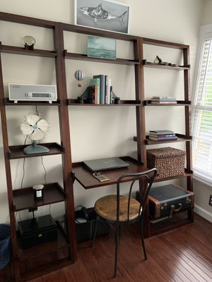 Crate and barrel ladder bookshelves set of three chair not included for Sale in Alexandria, VA