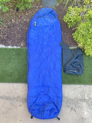 Camp7 Sleeping Bag Vintage Camping Lightweight Blue with Carrying Bag for Sale in Chula Vista, CA