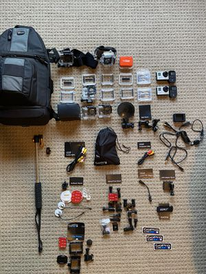 Two GoPro Hero 3 Cameras with Accessories Bundle for Sale in Gilbert, AZ