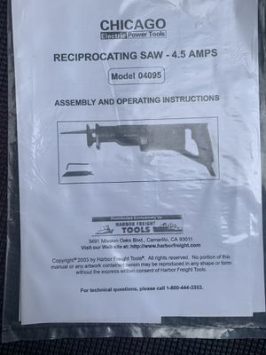 Reciprocating saw for Sale in Wheatfield, IN