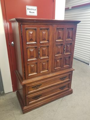 Gorgeous solid wood highboy dresser for Sale in Greensboro, NC