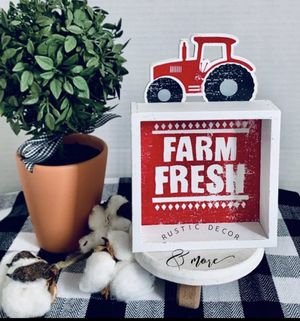 Farmhouse Tractor Box Sign for Sale in Tampa, FL