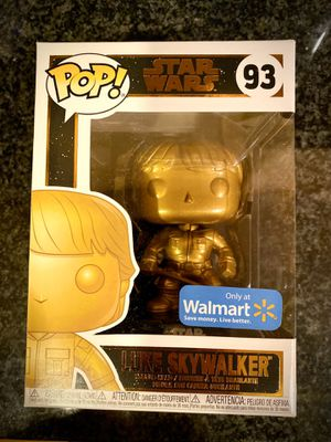 FUNKO POP METALLIC GOLD LUKE SKYWALKER - Walmart Exclusive for Sale in Chicago, IL