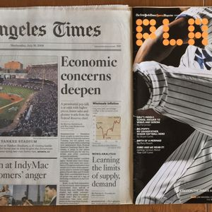 (1 SET AVAILABLE) LOS ANGELES TIMES: FINAL MLB ALL-STAR GAME AT OLD YANKEE STADIUM for Sale in Long Beach, CA
