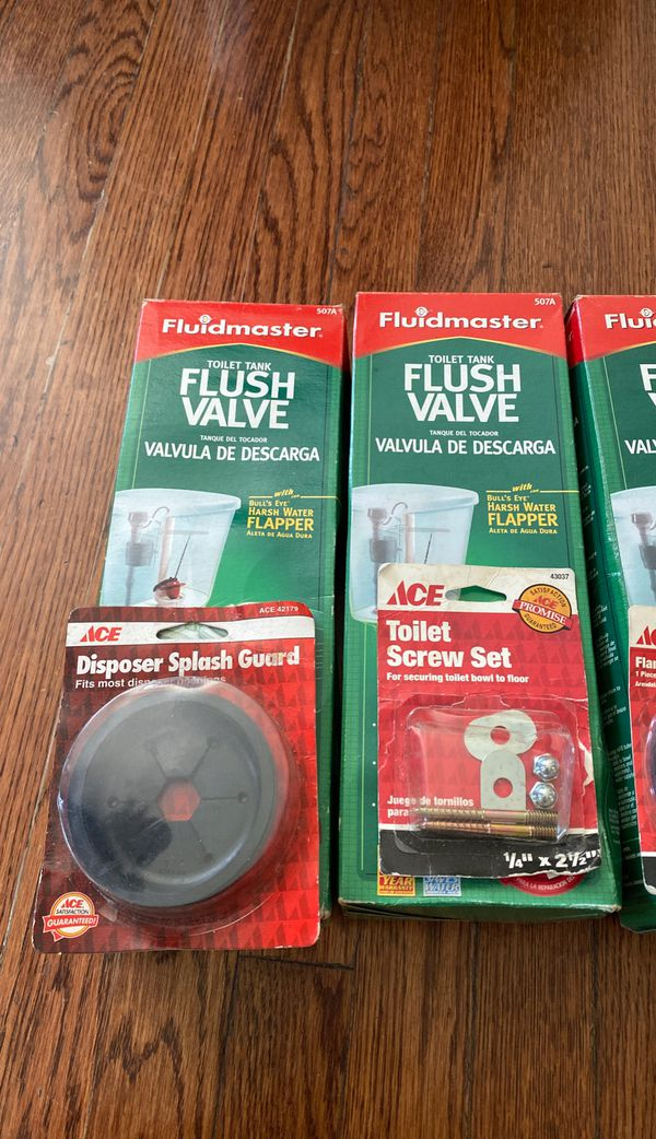 Assortment of plumbing/toilet items