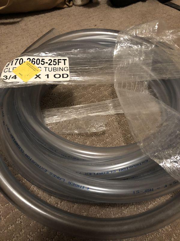 Clear vinyl tubing.