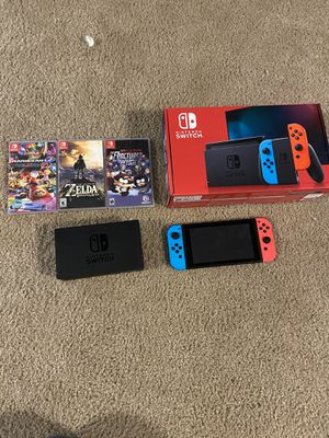 Nintendo switch w/ games and accessories for Sale in Bellevue, WA