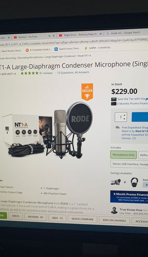 Rhode Microphone for Sale in Aurora, CO