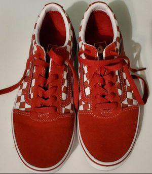 Red suede vans for Sale in San Antonio, TX