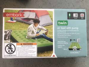 Brand New ! PUMP INCLUDED! Embark Single High Twin Air Mattress with Pump ! for Sale in Chino Hills, CA