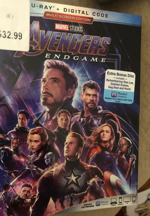 Avengers End Game Blu-Ray for Sale in Oregon City, OR