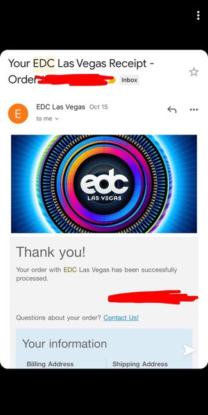 EDC TICKETS for Sale in Perris, CA