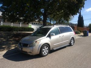 2004 NISSAN QUEST, TITLE IN HAND, REG CURRENT, AUTOMATIC, RUNS GOOD BUT OVERHEATS IN ABOUT 30 MINUTES, NAVIG., HABLO ESPAÑOL for Sale in San Diego, CA
