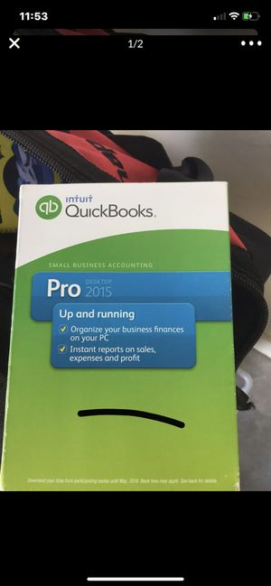 Quick books pro 2015 with key and disk for Sale in Dawsonville, GA