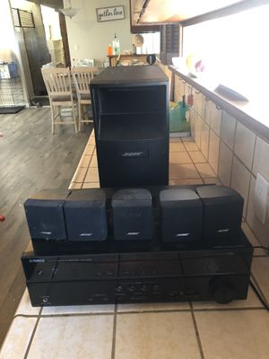 Bose speakers with sub and Yamaha receiver for Sale in Whittier, CA