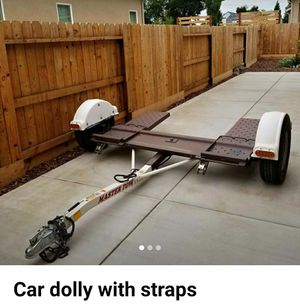 Master Tow Car Dolly With Straps for Sale in Fresno, CA