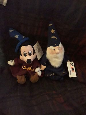Disney Mickey and Merlin beanie baby bean bag plush for Sale in Chino, CA