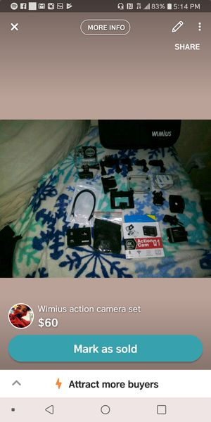 Wimius Action Camera for Sale in Niagara Falls, NY