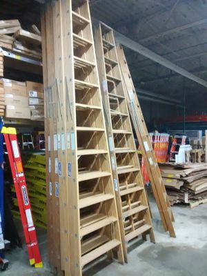 Brand new wooden ladders clearing old inventory for Sale in Worcester, MA