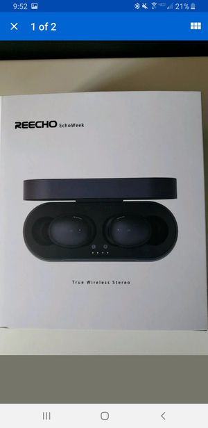 REECHO EchoWeek TWS Bluetooth 5.0 Wireless Earbuds - BLACK - NEW - MSRP $119 for Sale in Las Vegas, NV
