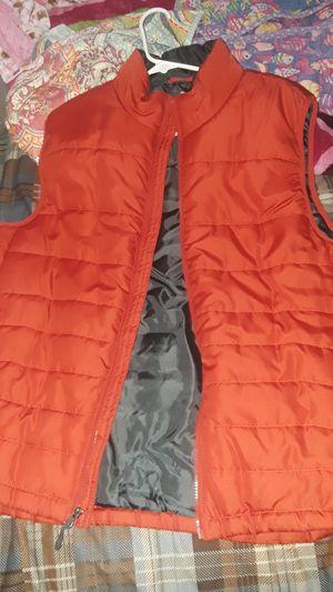 Men vest outside orange color black inside size large new. for Sale in San Jose, CA