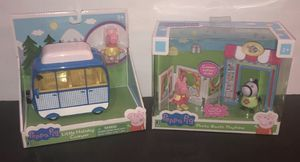 PEPPA PIG PEPPA PIG PHOTO BOOTH PLAYTIME AND LITTLE CAMPER HOLIDAY PLAYSETS New for Sale in Rockwall, TX