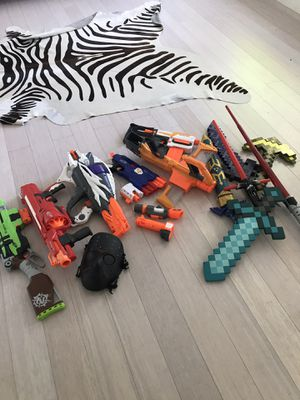 Nerf and Minecraft Toy Gun Lot for Sale in Miami, FL